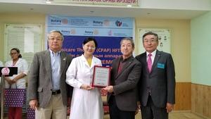 モンゴル国の国立第二病院へ「Cpap(持続陽圧呼吸療法装置)」