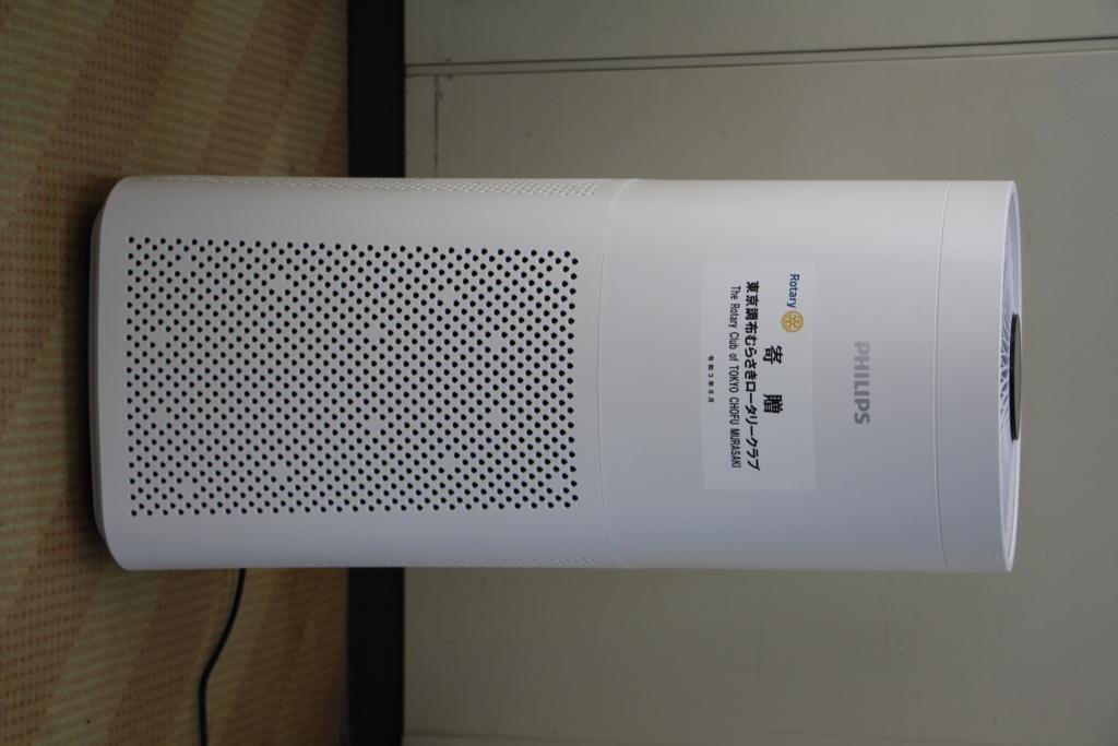 調布市社会福祉協議会へ空気殺菌器を寄贈